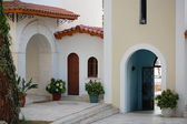 Monastero di faneromeni cortile — Foto Stock