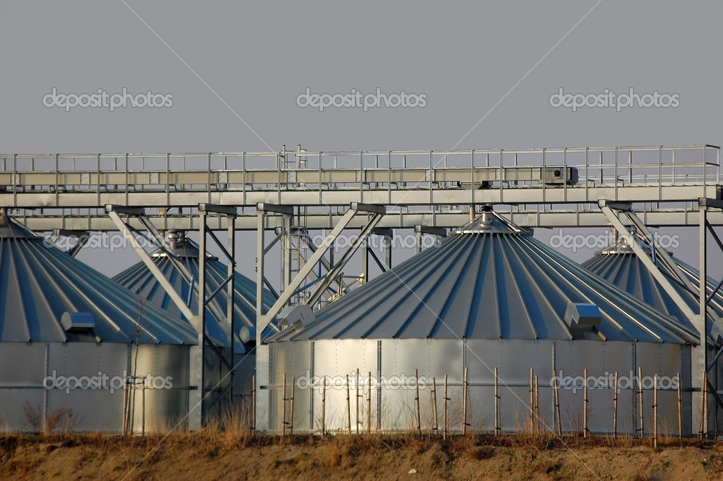Large stainless steel tank and dosing — Stock Photo #2411051