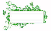 Floral green banner — Stock Photo