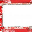 Frame with Red Hearts — Stock Photo