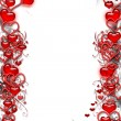 Frame with Red Hearts - Stock Photo
