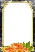 Decorative wedding frame — Stock Photo