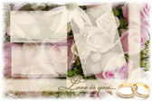 Decorative wedding frame — Stok fotoğraf