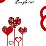Love card or wedding invitation — Stock Photo