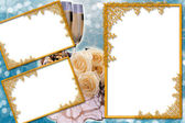 Decorative wedding frame — Stock Photo