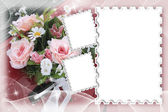 Decorative wedding frame — Stock fotografie