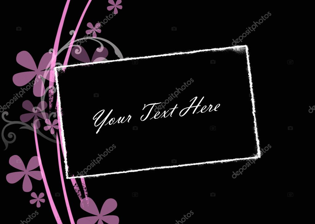 Abstract  black   background with frame and place for text — Stock Photo #2602231
