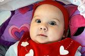 Симпатичная Девочка с большими глазами — Stock Photo