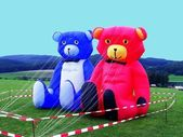 TEDDIES ROT-BLAU — Stock Photo