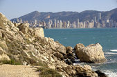 PANORAMA BENIDORM VON LA CALA — Stock Photo
