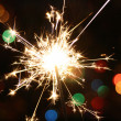 Sparkler bright celebration — Stock Photo