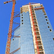 Hoisting-crane   with  building — Stock Photo