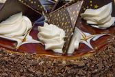 Chocolaty cake close up — Stock Photo