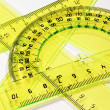 Set of measurement instrument-protractor — Stock Photo
