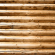 Wall made of wooden beams — Stockfoto