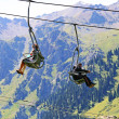 Cable car on mountain — Stock Photo