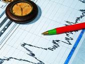 Finances analyze and watch — Stock Photo