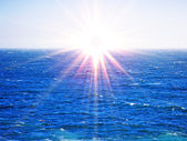 Sun landscape on sea — Stock Photo