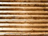 Wall made of wooden beams — Stock Photo