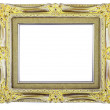 Gold frame isolated — Stock Photo