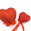Royalty-Free Stock Photo: Two red heart  as fake