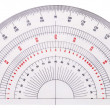 Isolated white protractor — Stock Photo #2332459