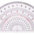 Isolated white protractor — Stock Photo