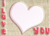 Herz als valentinstag-karte — Stockfoto