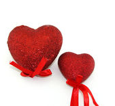 Two red heart — Stock Photo
