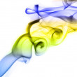 Color smoke on white — Stock Photo