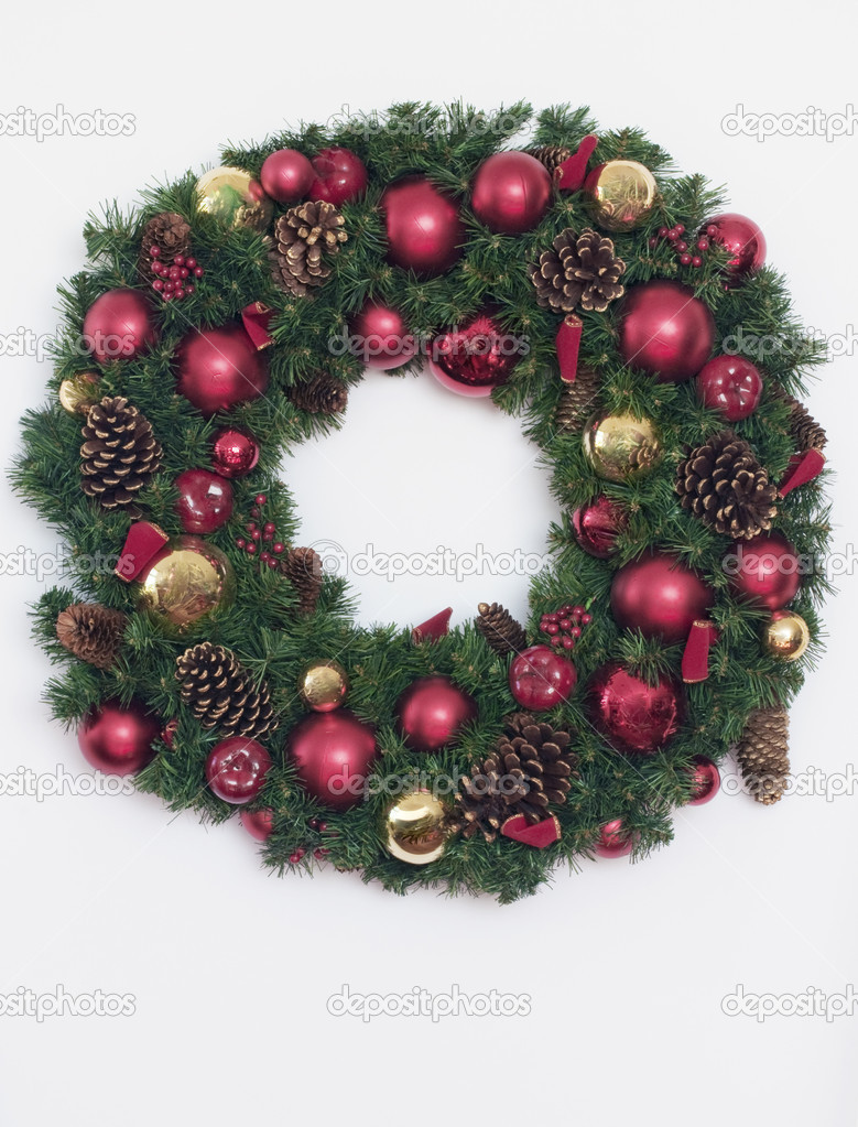 Christmas Wreath isolated on white background — Stock Photo #2283680