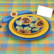 Harvest Place Setting - Stock Photo
