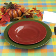Stockfoto: Harvest Place Setting