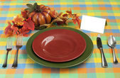 Harvest Place Setting — Stock Photo