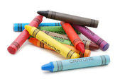 Crayons lying in chaos — Stock Photo