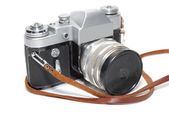 Old camera isolated on white background — Stock Photo