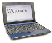 "Laptop with a word ""Welcome"" — Foto Stock"