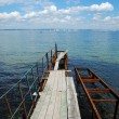 Old rusty pier in water — Stock Photo #2639450