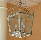 Beautiful antique style lantern — Stock Photo