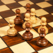 Stock Photo: Chessmen on the chessboard
