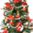 Unfocused christmas tree background — Stock Photo