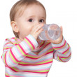Stock Photo: Baby drinking water