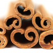 Stack of cinnamon with shallow DOF — Stock Photo