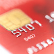 Stock Photo: Credit card with shallow DOF