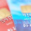 Stock Photo: Two credit cards with shallow DOF