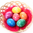 Easter eggs in basket — Stock Photo #2258849