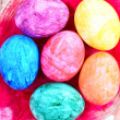 Easter eggs in nest — Stock Photo #2258850