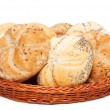 Basket with bakery products — Stock Photo