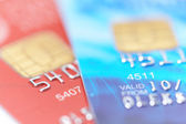 Two credit cards with shallow DOF — Stock Photo