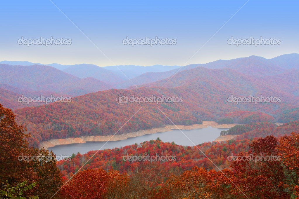 Autumn in Great Smoky Mountains, USA — Stock fotografie #2259765